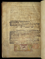 Miniature, Cut From A Gospel Lectionary(?), Pasted Into A Copy Of The Acts Of The Council Of Constantinople